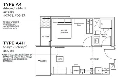 1 bedroom Type A4 Floorplan