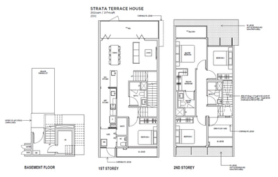 4 bedroom Townhouse Floorplan